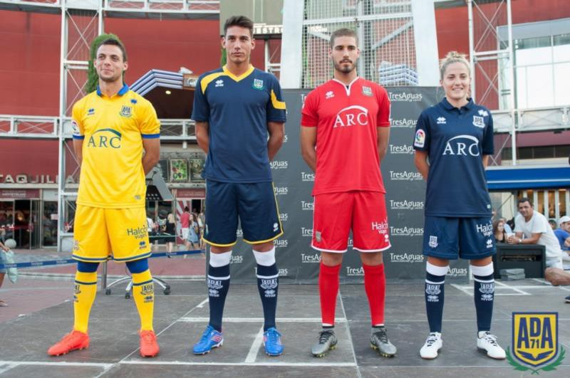Elegance and attention to detail has gone into the new AD Alcorcón 2016-2017 official kits