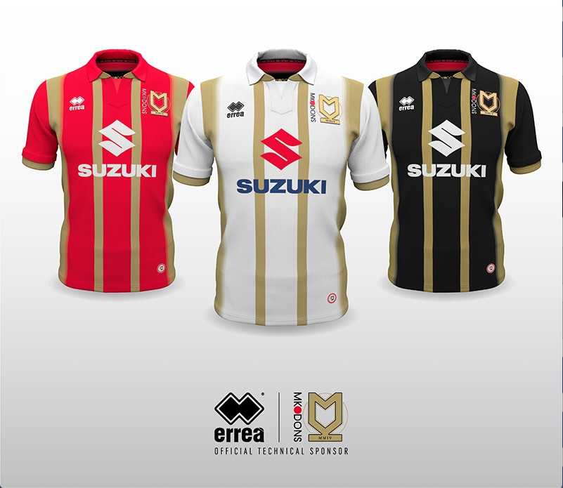 Erreà and MK Dons unveil the new official kits for the forthcoming 2018 - 2019 season