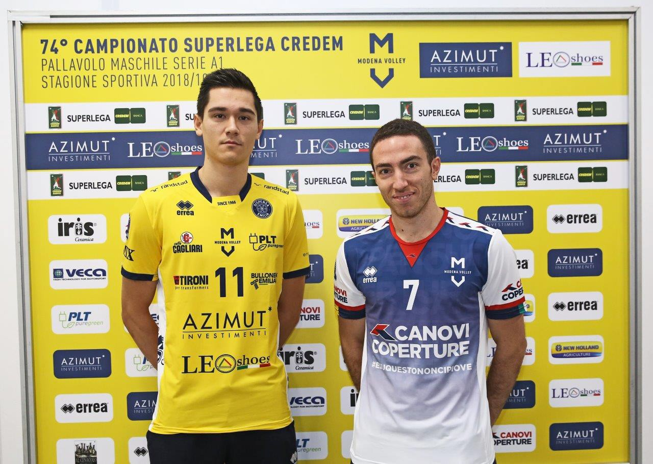 Erreà supplies Modena Volley with their new CEV Champions League shirts!
