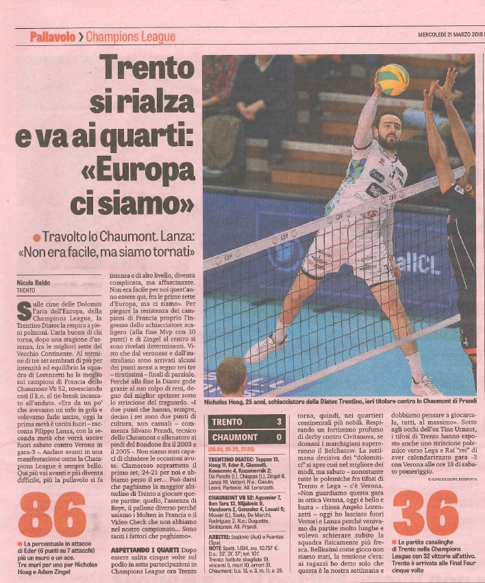 La Gazzetta dello Sport - 21 March 2018