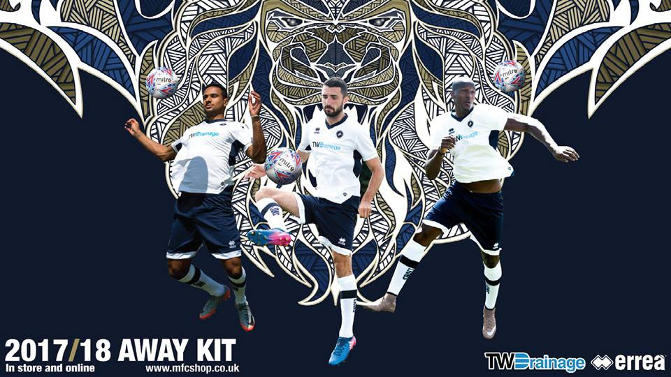 Millwall FC unveils its away kit for the 2017-2018 season