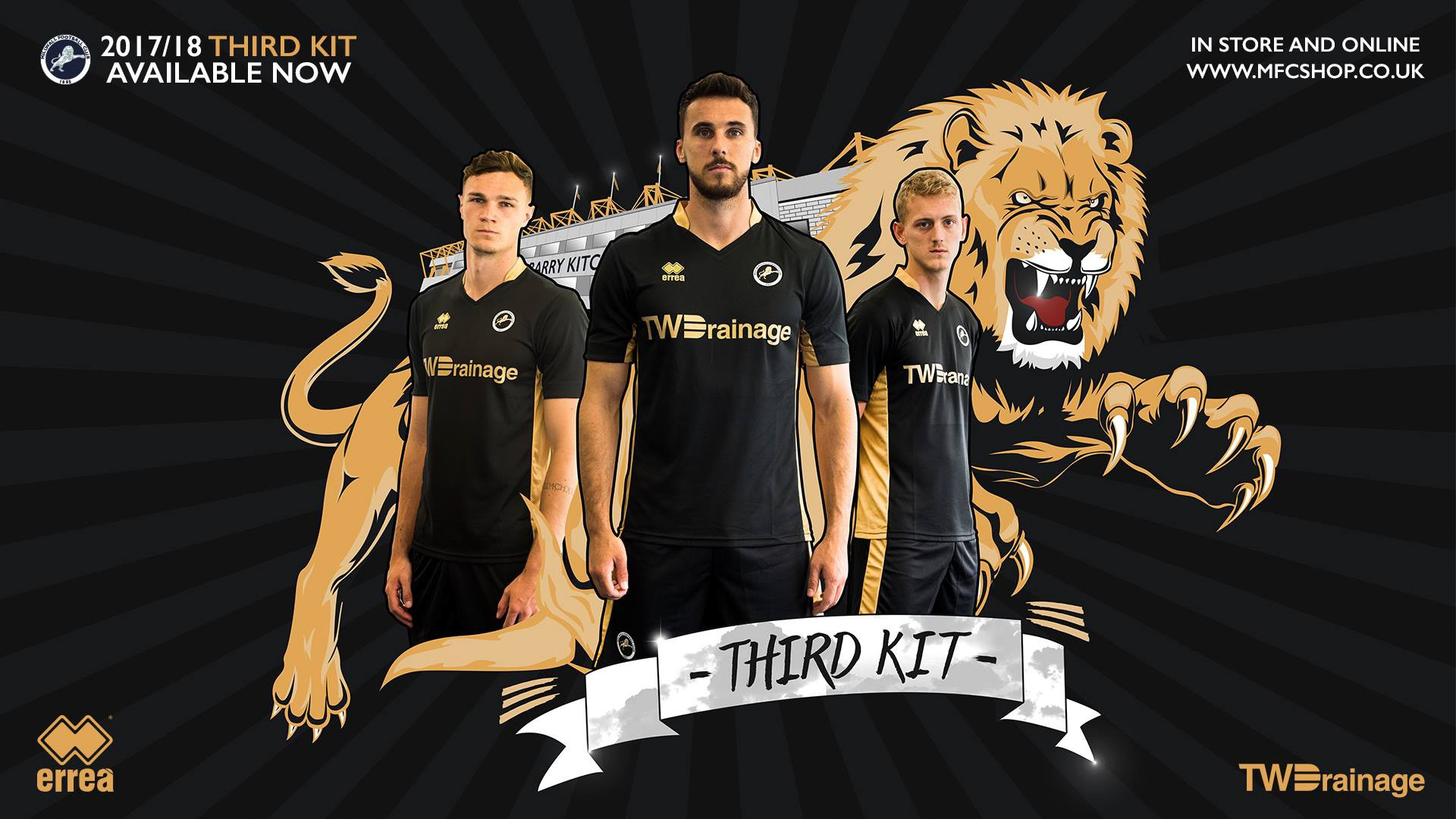 Millwall unveils its third official team kit for 2017 - 2018