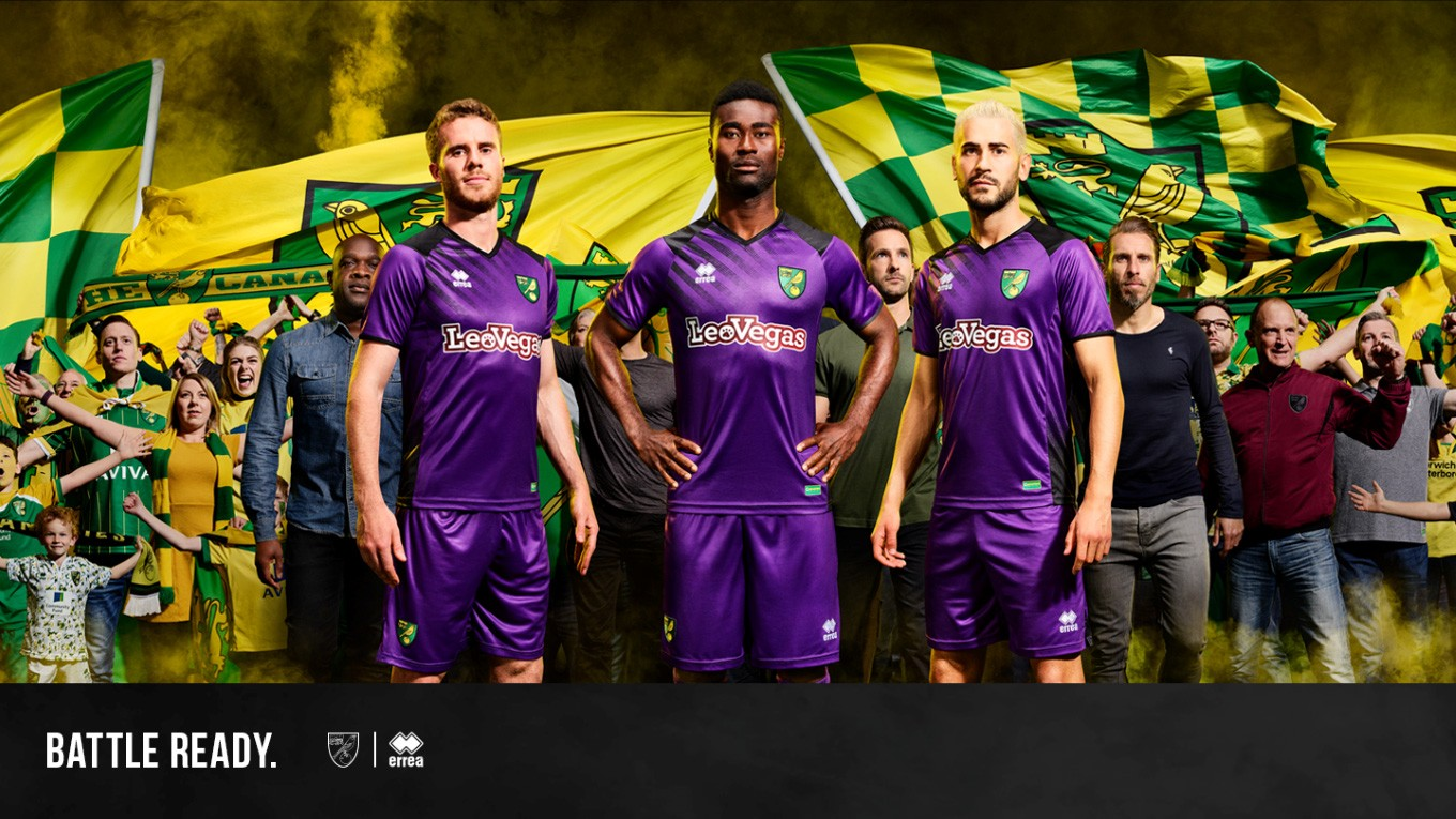 Norwich City FC reveals its third shirt sporting the Erreà logo for the 2017- 2018 season