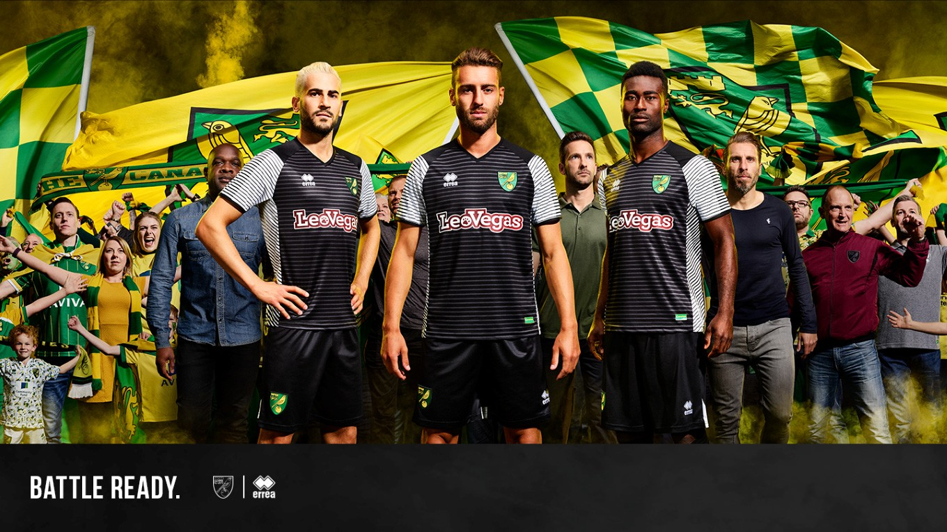 Norwich City have today unveiled their Errea away kit for 2017-18