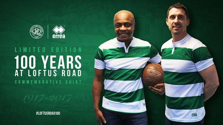 QPR and Erreà celebrate 100 years at Loftus Road with a special commemorative shirt!