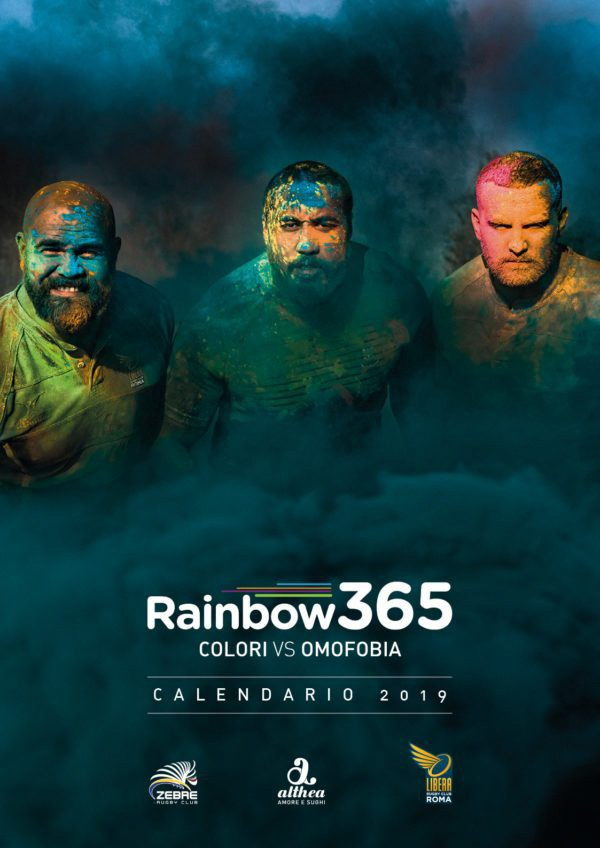 """Rainbow 365 - Colori vs Omofobia"": huge success for the calendar by Zebre Rugby!"
