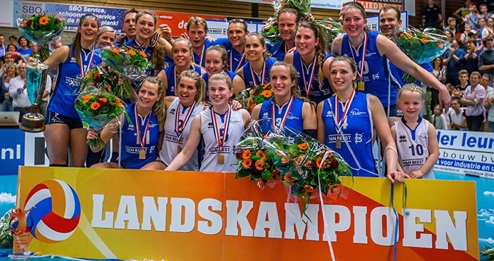 Sliedrecht Sport wins the Dutch Volleyball Championship and with it a third title!