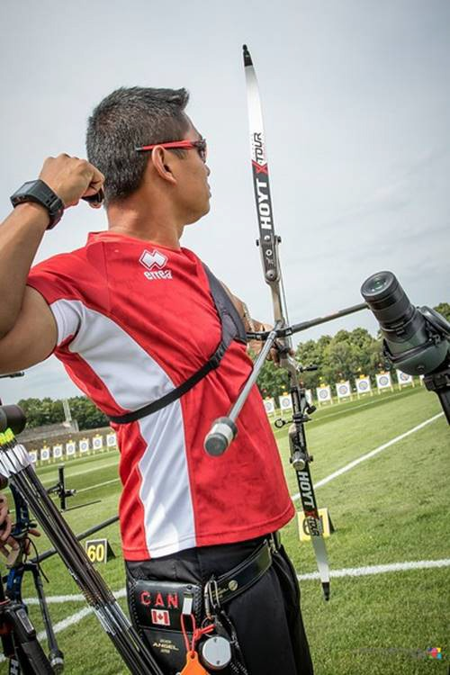The Canadian athlete Crispin Duenas takes bronze at the Berlin 2017 Hyundai Archery World Cup!