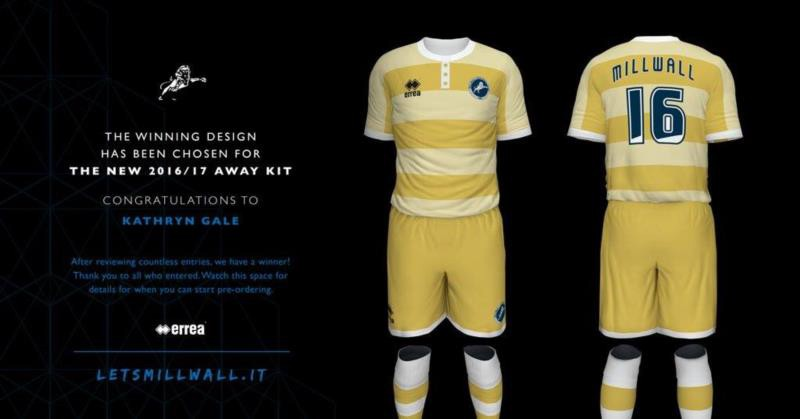 The design for Millwall F.C.'s new away kit for the 2016-17 season has been unveiled
