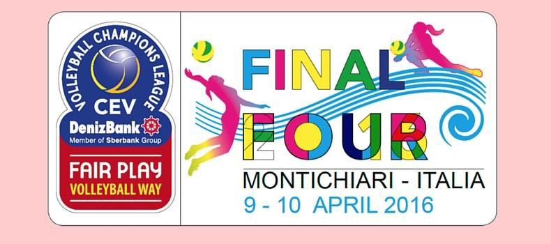 The Final Four of the Champions League, organised by VBC Pomì, will take place on 9 and 10 April!