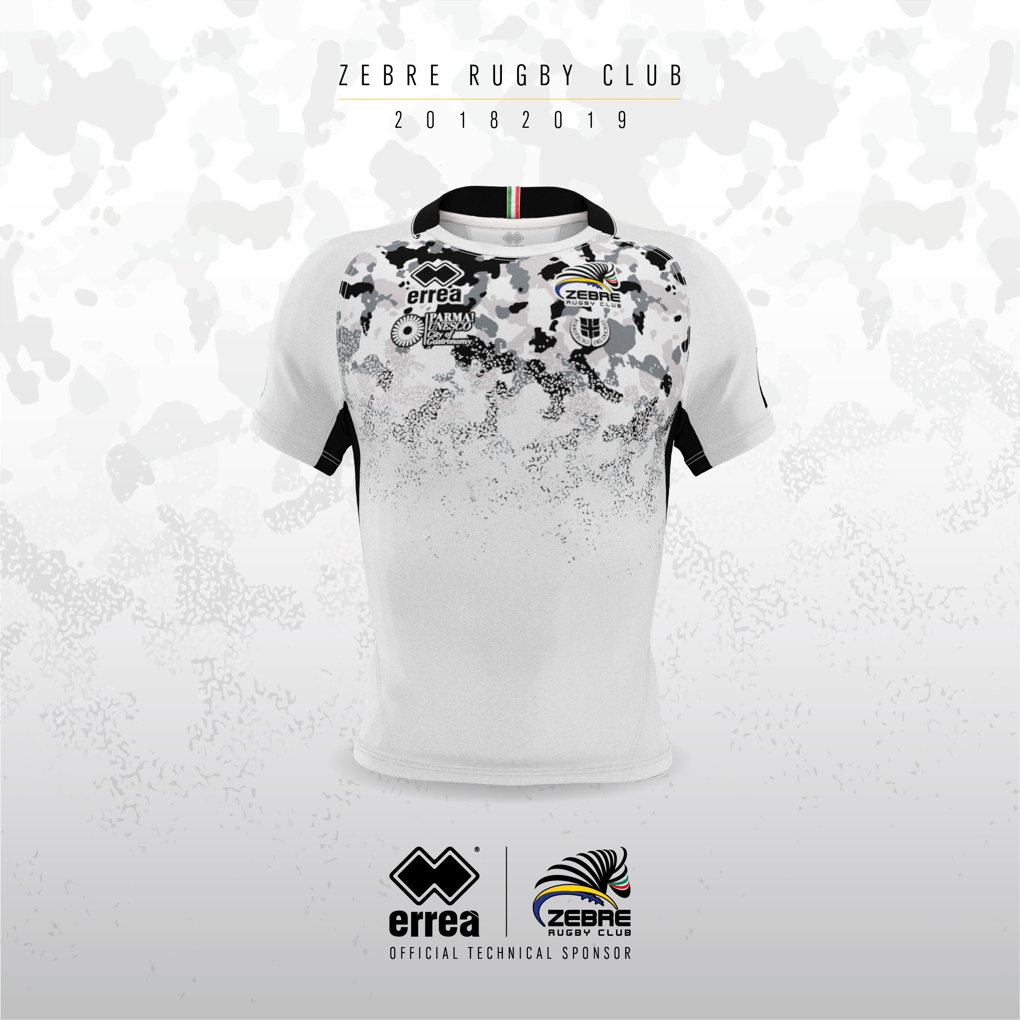 Zebre Rugby Club's new away official kit presented at the Lanfranchi Stadium