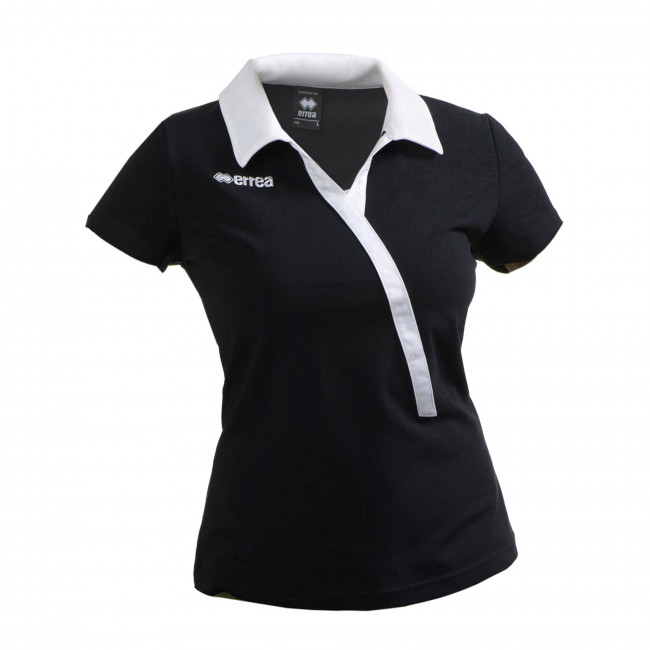 QUEENSLAND WOMAN POLO SS JR NERO BIANCO - ERREÀ