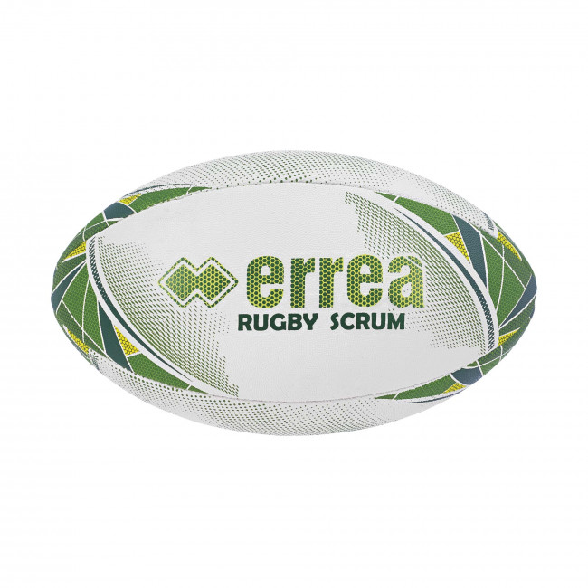 SCRUM RUGBY BALL BIANCO VERDONE LIME - ERREÀ