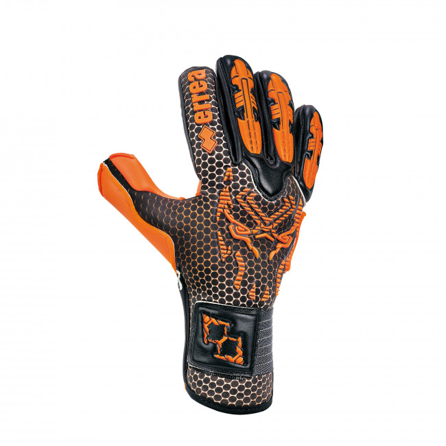 BLACK PANTHER FLUO EDITION - GOALKEEPER GLOVES AD NERO ARANCIO_FLUO - ERREÀ