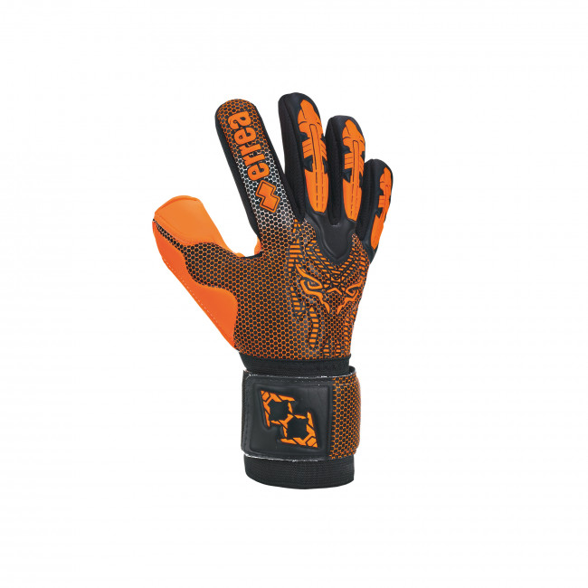BLACK PANTHER FLUO EDITION - GOALKEEPER GLOVES JR NERO ARANCIO_FLUO - ERREÀ