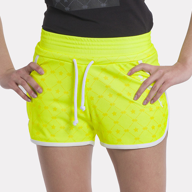 ESSENTIAL SS21 WOMAN HOT PANT STARS AD SAFETY_YELLOW-1 - REPUBLIC