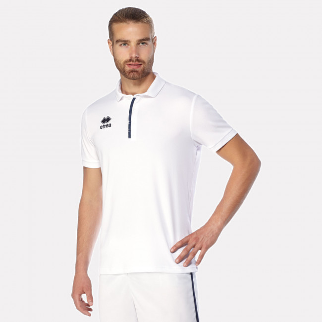 MEN'S POLO SHIRT PRAGA 3.0  BIANCO BLU-2 - ERREÀ