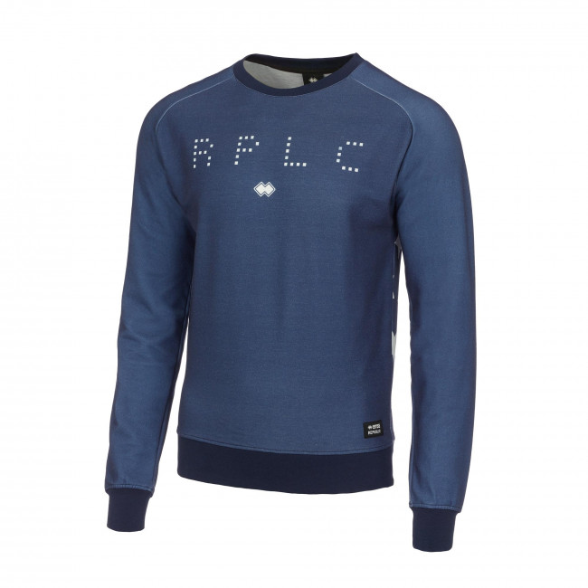 TREND FW17/18 MAN ROUND-NECK SWEATSHIRT AD BLU - REPUBLIC