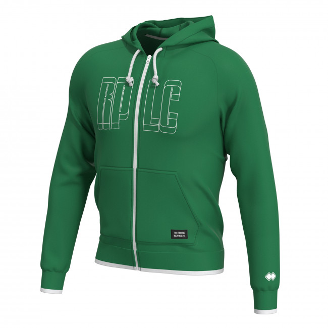 CONTEMPORARY SS18 MAN FULL ZIP SWEAT AD VERDE - REPUBLIC