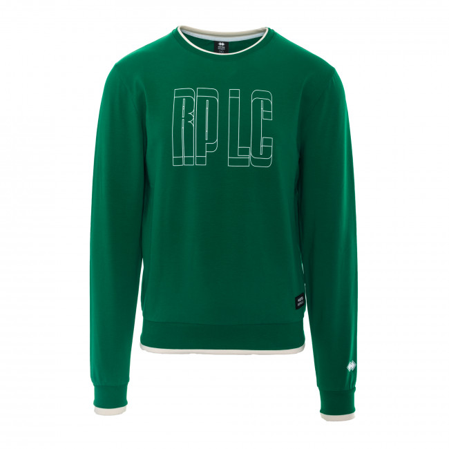CONTEMPORARY SS18 MAN ROUND NECK SWEAT JR VERDE - REPUBLIC