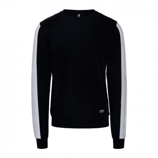 SPORT FUSION SS18 MAN ROUND NECK SWEAT JR BLU - REPUBLIC