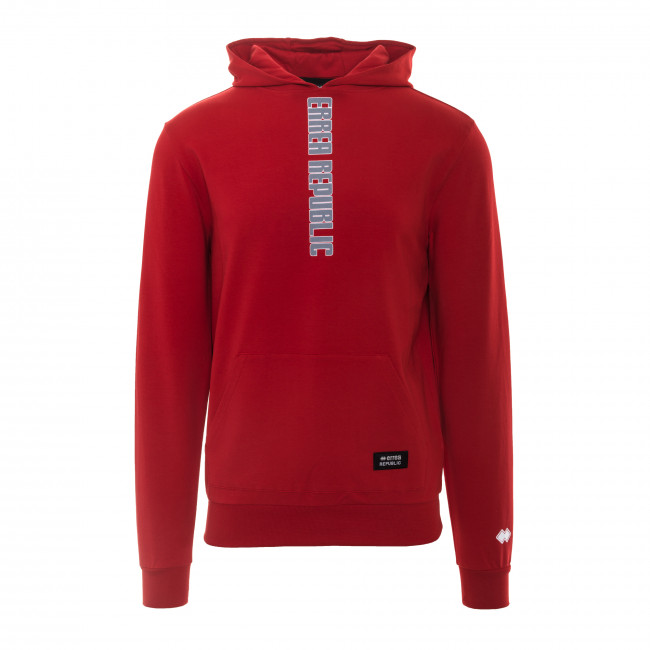 TREND SS18 MAN HOODED SWEAT AD ROSSO - REPUBLIC