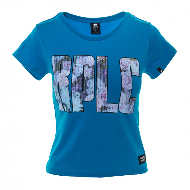 ESSENTIAL SS18 WOMAN RPLC T-SHIRT JR CYAN - REPUBLIC