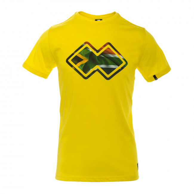 ESSENTIAL SS18 MAN FLAG T-SHIRT AD GIALLO_SUD AFRICA - REPUBLIC