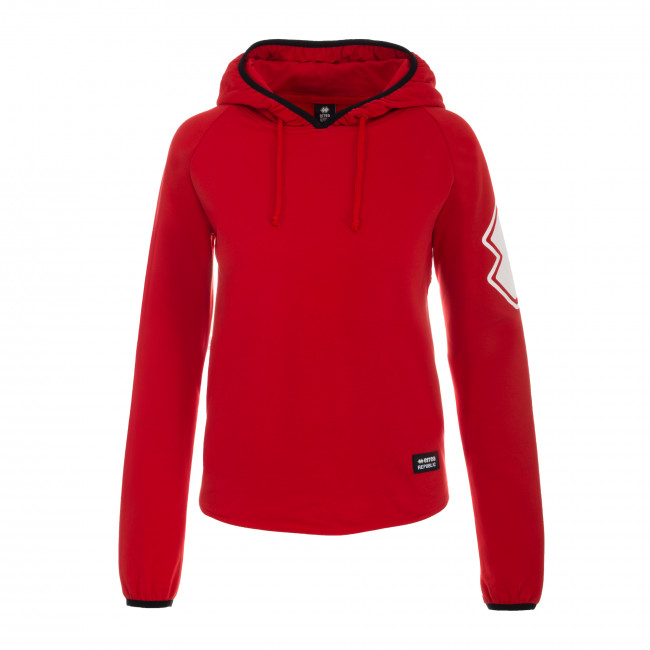 TREND FW18/19 WOMAN HOODED SWEAT AD ROSSO - REPUBLIC