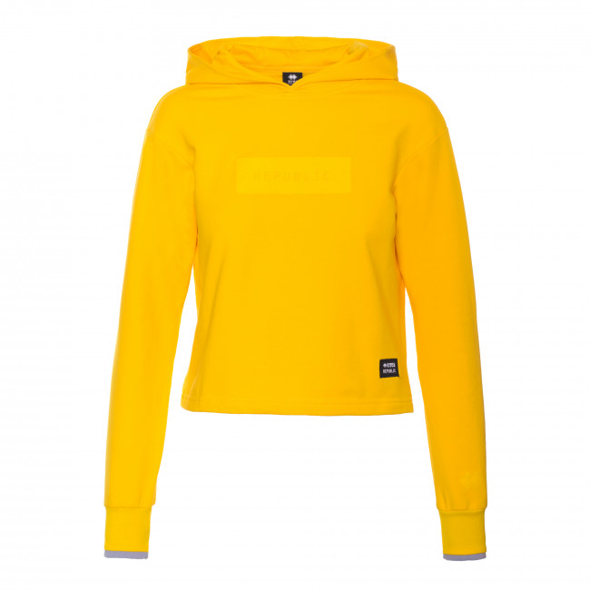 CONTEMPORARY FW18/19 WOMAN HOODED SWEAT AD GIALLO - REPUBLIC