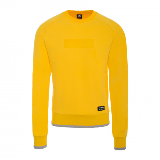 CONTEMPORARY FW18/19 MAN ROUND-NECK SWEATSHIRT AD GIALLO - REPUBLIC