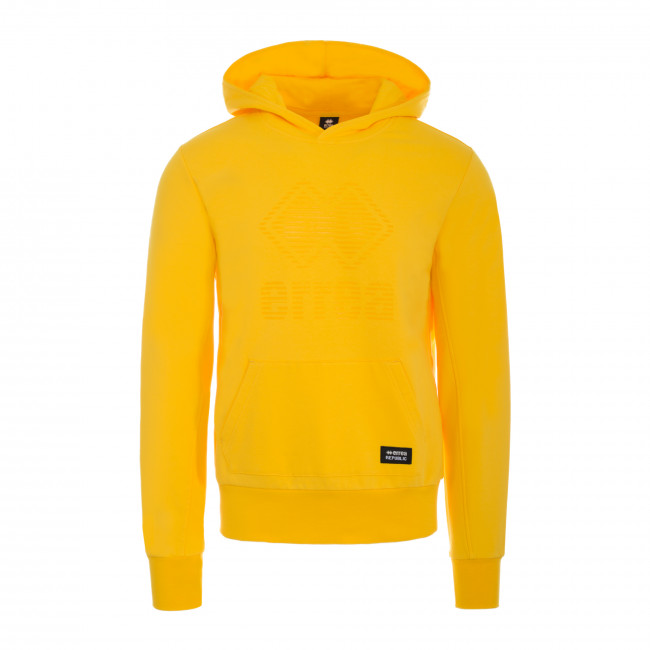 ESSENTIAL FW18/19 MAN JELLY LOGO HOODIE SWEAT JR GIALLO - REPUBLIC
