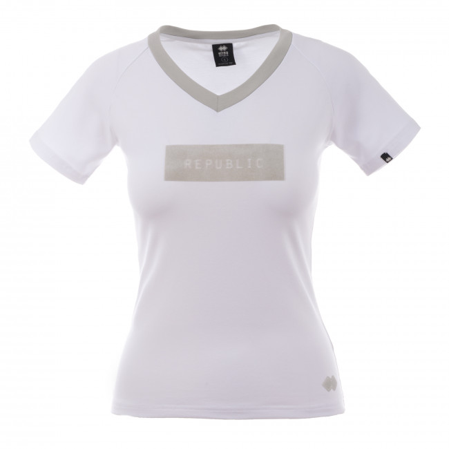 CONTEMPORARY FW18/19 WOMAN LOW-NECK T-SHIRT SS AD BIA - REPUBLIC
