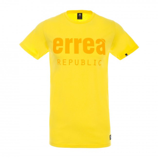 ESSENTIAL FW18/19 MAN TONE T-SHIRT SS JR GIALLO - REPUBLIC