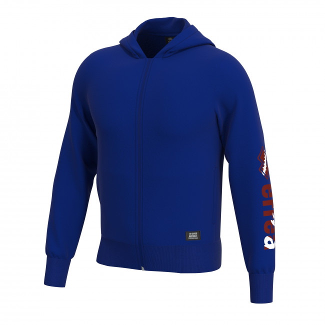 ESSENTIAL SS19 MAN GRAPHIC FLEECE JR BLU RUGBY PRINT - REPUBLIC