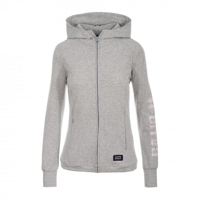 ESSENTIAL SS19 WOMAN FANTASY FLEECE AD GRIGIO_MELANGE STRIPY - REPUBLIC