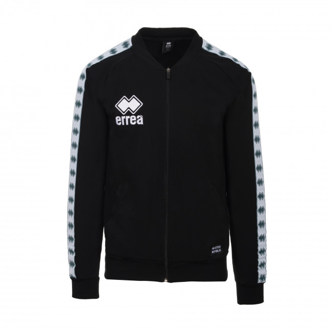 ESSENTIAL SS19 MAN BANDA BOMBER SWEATSHIRT JR NERO - REPUBLIC