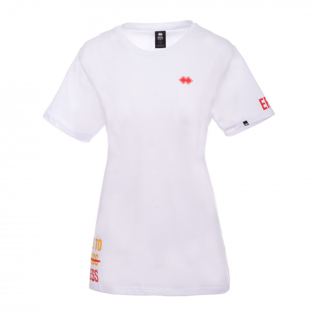 TREND SS19 WOMAN FLARE T-SHIRT MC JR BIANCO - REPUBLIC