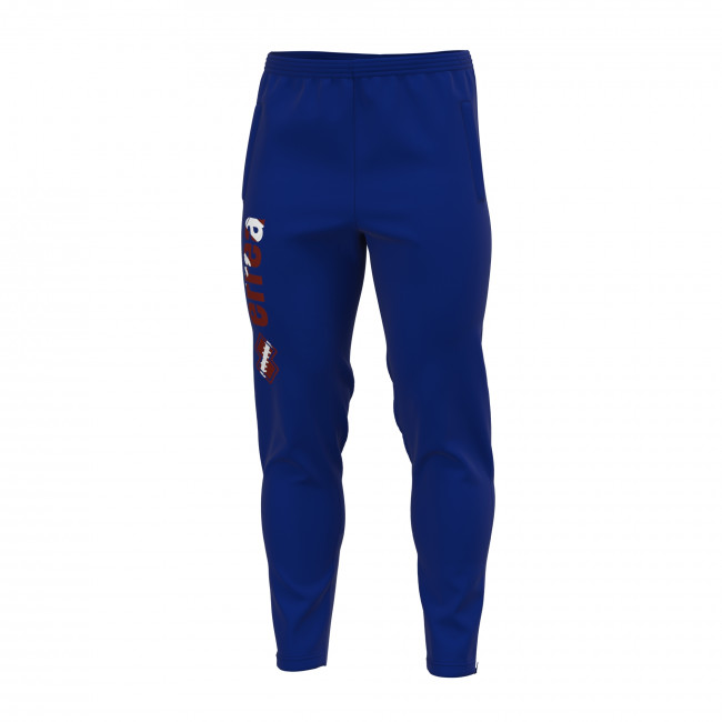 ESSENTIAL SS19 MAN DRAKE GRAPHIC TROUSERS AD BLU RUGBY PRINT - REPUBLIC