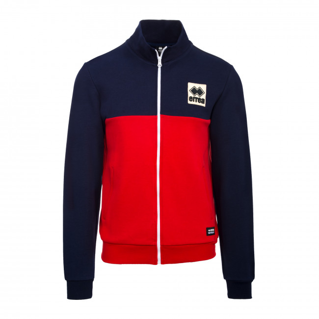 SPORT FUSION FW19/20 MAN PATCH HIGH NECK SWEAT JR BLU ROSSO - REPUBLIC