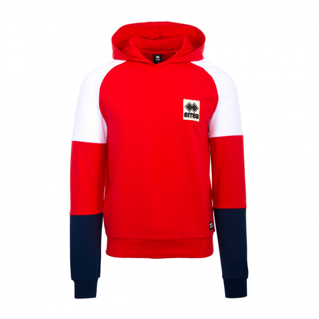 SPORT FUSION FW19/20 MAN PATCH HOODED SWEATSHIRT AD ROS BIA BLU - REPUBLIC