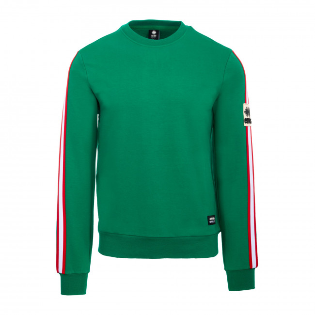 SPORT FUSION FW19/20 MAN ROUND NECK PATCH SWEAT AD VERDE - REPUBLIC