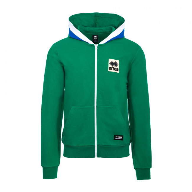 TREND FW19/20 MAN FULL ZIP SWEATSHIRT JR VERDE AZZURRO - REPUBLIC