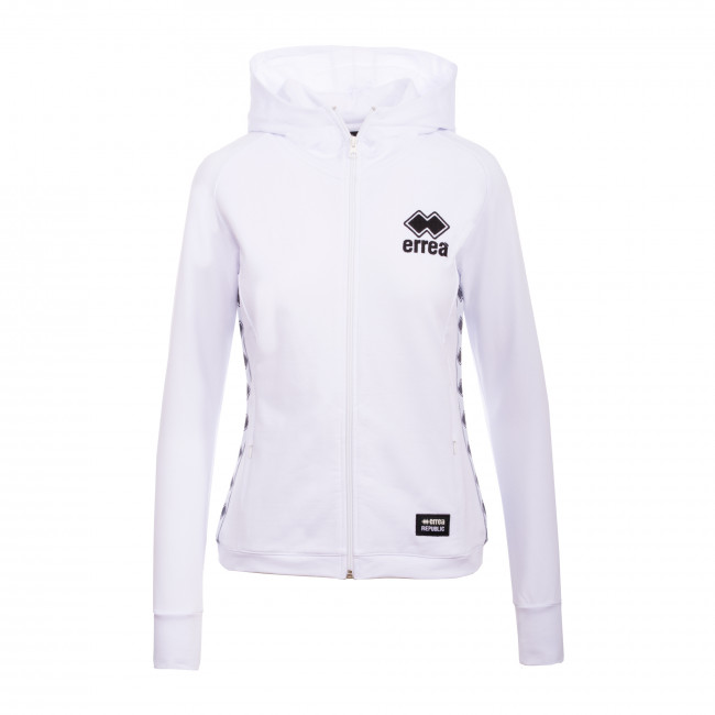 ESSENTIAL FW19/20 WOMAN LOGO FLEECE JR BIANCO - REPUBLIC