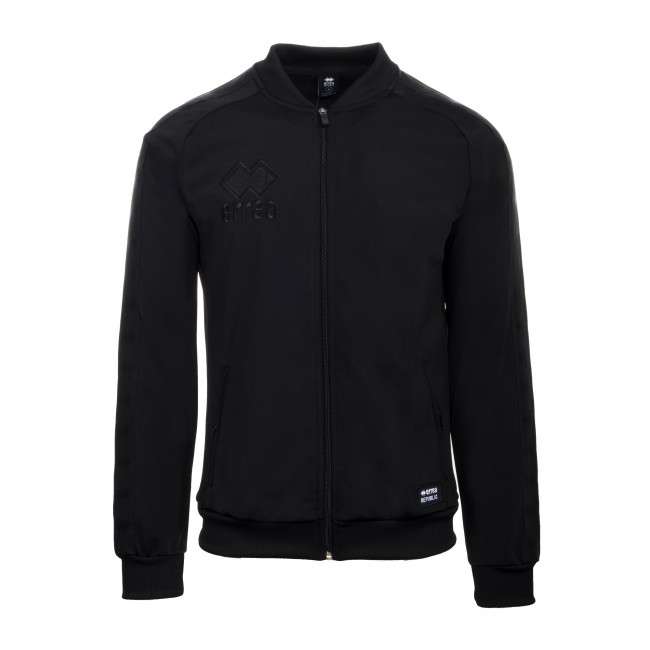 ESSENTIAL FW19/20 MAN BANDA BOMBER SWEATSHIRT JR NERO NERO_TT - REPUBLIC