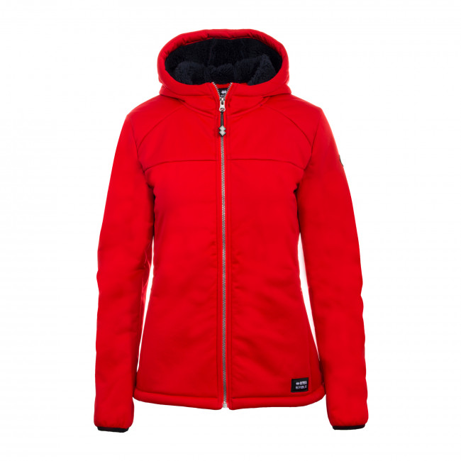 HYBRID FW19/20 WOMAN HOODED JACKET AD ROSSO - REPUBLIC