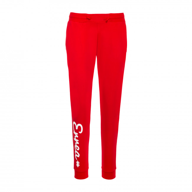 TREND FW19/20 WOMAN LOGO TROUSERS JR ROSSO - REPUBLIC