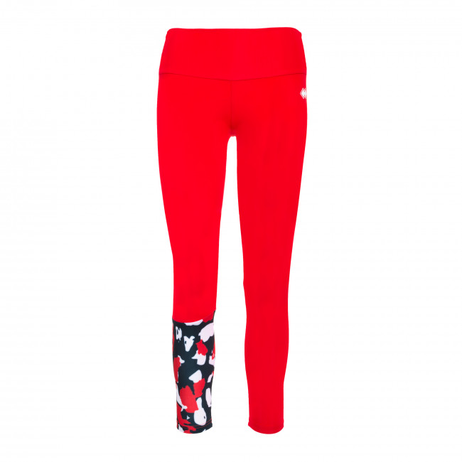 ESSENTIAL FW19/20 WOMAN CONTRAST LEGGINGS AD ROSSO - REPUBLIC
