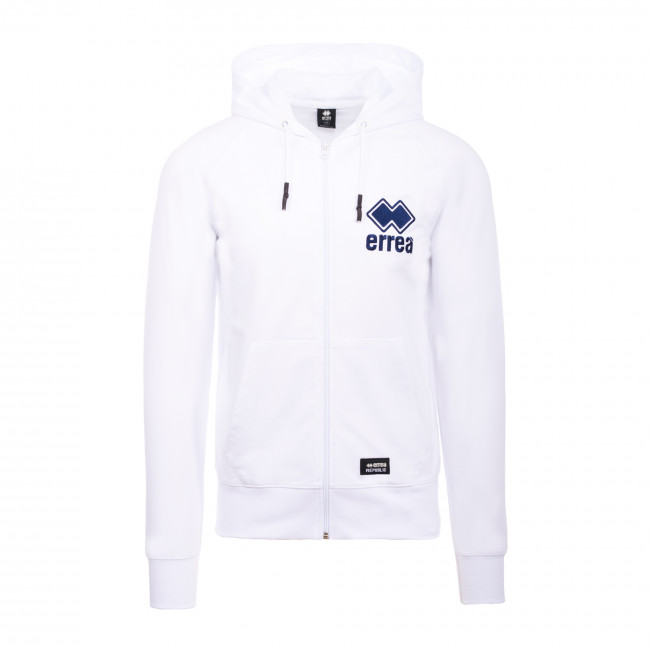 ESSENTIAL SS20 MAN EMBROIDERY HOODY-ZIP 039 AD BIANCO - REPUBLIC