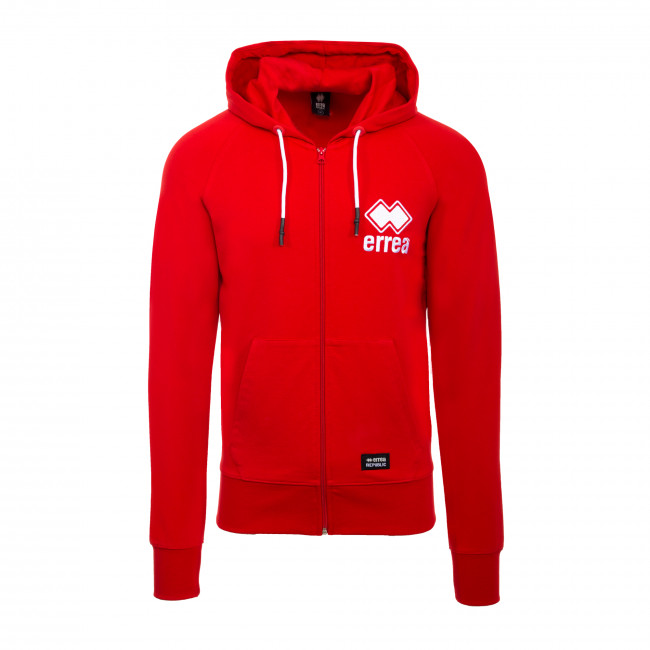 ESSENTIAL SS20 MAN EMBROIDERY HOODY-ZIP 039 JR ROSSO - REPUBLIC